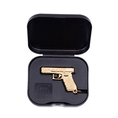 Nyckelring GLOCK Gen4 gold plated w/ box