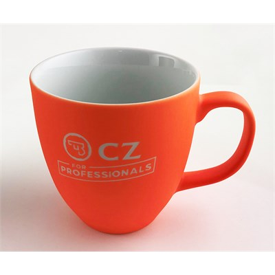 Mugg orange med CZ Logo