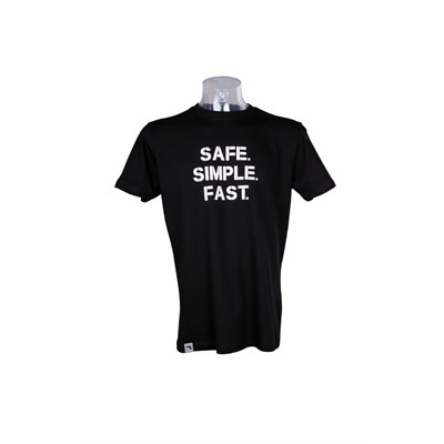 T-Shirt GLOCK Safe/Simple/Fast men short sleeve black L